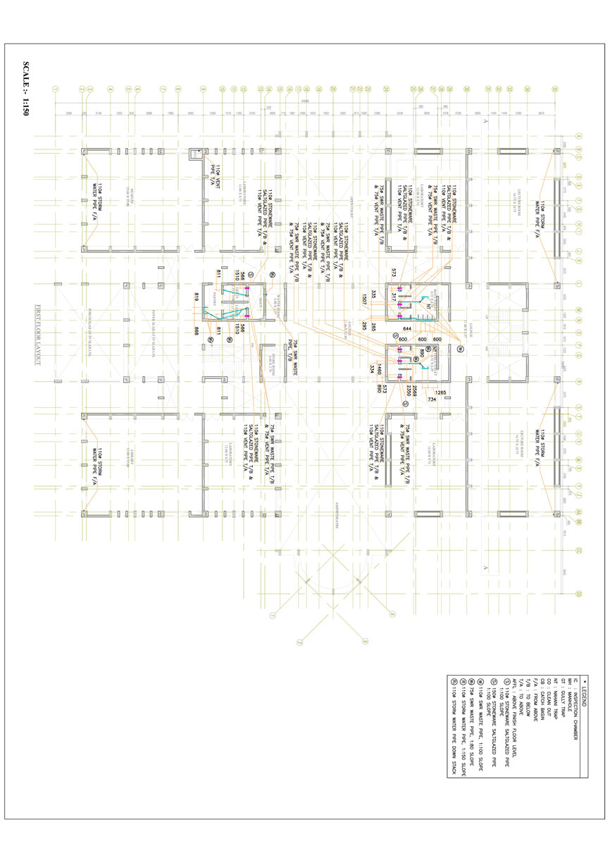 Plumbing Piping Design & Drafting Services | cadoutsourcing net